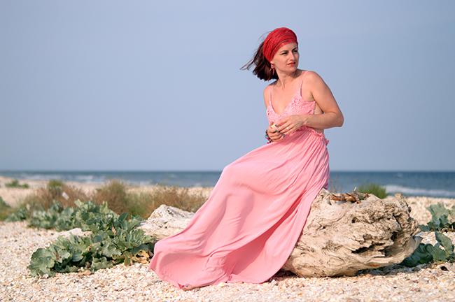 Rochia roz pudrat